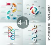 set of 4 modern infographics... | Shutterstock .eps vector #430528564