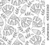 seamless pattern with flowers . ... | Shutterstock . vector #430531060