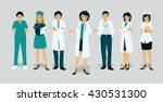 doctors team in uniform with a... | Shutterstock .eps vector #430531300