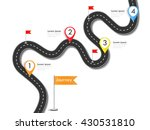 road trip and journey route.... | Shutterstock .eps vector #430531810