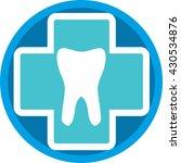 logo dental clinic in circle on ...   Shutterstock .eps vector #430534876