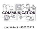 communication concept for web... | Shutterstock .eps vector #430535914