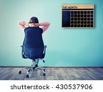 woman sitting back on the... | Shutterstock . vector #430537906