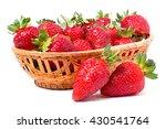 Strawberries In A Wicker Baske...