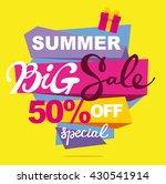 summer sale vector banner. ... | Shutterstock .eps vector #430541914