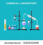 chemistry laboratory workspace... | Shutterstock .eps vector #430543498