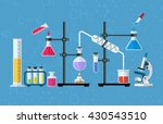 chemistry laboratory workspace... | Shutterstock .eps vector #430543510