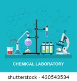 chemistry laboratory workspace... | Shutterstock .eps vector #430543534