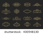 wicker lines and old decor... | Shutterstock . vector #430548130