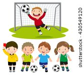 set of cartoon soccer kids with ... | Shutterstock .eps vector #430549120