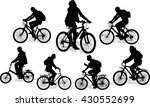set of 7 silhouettes of the... | Shutterstock .eps vector #430552699