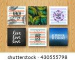 set hand lettering poster set .... | Shutterstock . vector #430555798