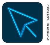 3d line neon web icon arrow...