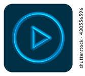 3d line neon web icon blue color