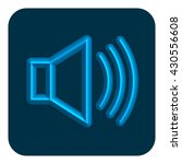 3d line neon web icon audio ...