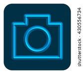 3d line neon photo web icon ...