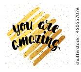 trendy hand lettering poster.... | Shutterstock . vector #430557076