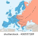 iron curtain cold war era on... | Shutterstock .eps vector #430557289