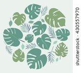 tropical leaves. greens leaves...   Shutterstock .eps vector #430557970