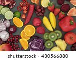 healthy fresh fruit and... | Shutterstock . vector #430566880