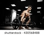 execute exercise with dumbbells | Shutterstock . vector #430568488