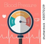 high blood pressure concept | Shutterstock .eps vector #430570159