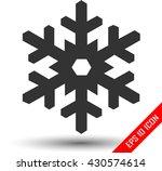 snowflake icon. flat logo of... | Shutterstock .eps vector #430574614