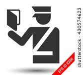 customs officer icon. flat logo ... | Shutterstock .eps vector #430574623