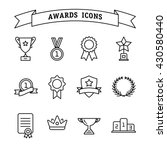 set of trophy and awards icons... | Shutterstock .eps vector #430580440
