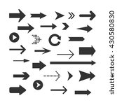 arrows set isolated on a white...   Shutterstock .eps vector #430580830