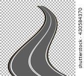 vector curved asphalt road | Shutterstock .eps vector #430584370