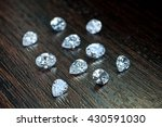 white shaped diamonds on wooden ... | Shutterstock . vector #430591030
