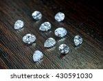 white shaped diamonds on wooden ... | Shutterstock . vector #430591030