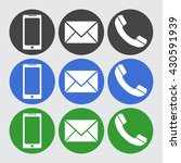 telephone  sms icons. vector... | Shutterstock .eps vector #430591939