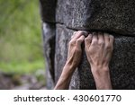 two rough hands with taped... | Shutterstock . vector #430601770