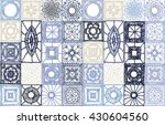 set patchwork knitted with a... | Shutterstock .eps vector #430604560