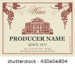 wine label in retro style image ... | Shutterstock .eps vector #430606804
