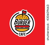 burger logo sticker emblem | Shutterstock .eps vector #430609663