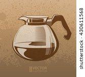 brown artistic hand drawn... | Shutterstock .eps vector #430611568