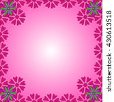 bright card with abstract... | Shutterstock .eps vector #430613518