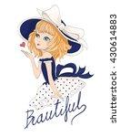 beautiful romantic girl...   Shutterstock .eps vector #430614883