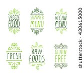 restaurant labels. suitable for ... | Shutterstock .eps vector #430615000