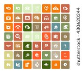 set of 49 universal icons.... | Shutterstock .eps vector #430620244