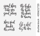shoes retail quote lettering.... | Shutterstock .eps vector #430621720