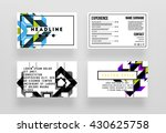 abstract geometric shapes and... | Shutterstock .eps vector #430625758