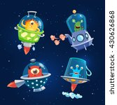 set of space aliens  monsters.... | Shutterstock .eps vector #430626868