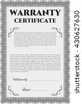 sample warranty certificate.... | Shutterstock .eps vector #430627630