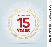 15 years anniversary badge on... | Shutterstock .eps vector #430629520