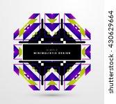 geometric vector background.... | Shutterstock .eps vector #430629664