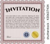 retro vintage invitation. with... | Shutterstock .eps vector #430637434